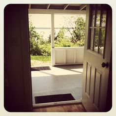Looking out my front door to the fabulous porch and Lake Champlain. Rockridge cottage at the Tyler Place. #Instagram #Vermont