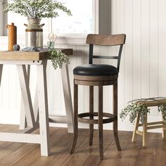 Extra Tall Bar Stools You'll Love in 2019 Extra Tall Bar Stools, Tall Stools, Pub Style Table, Accent Chairs Under 100, Shabby Chic Table And Chairs, Dark Wood Stain, Counter Stools, Bar Counter, Foam Cushions
