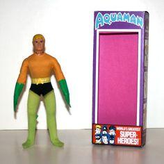 "Vintage Mego Aquaman 8"" Action Figure with Repro Box | eBay"