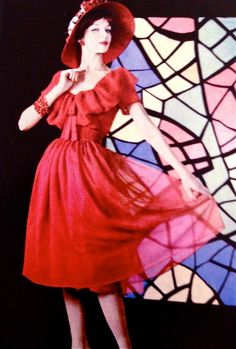 1958 - YSL for Christian Dior 'Coquelicot ' dress