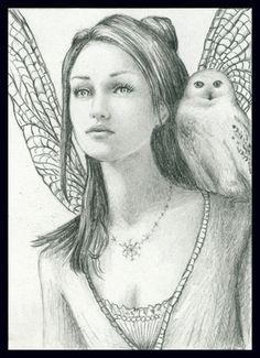 Dragonfly Fairy & Snowy Owl