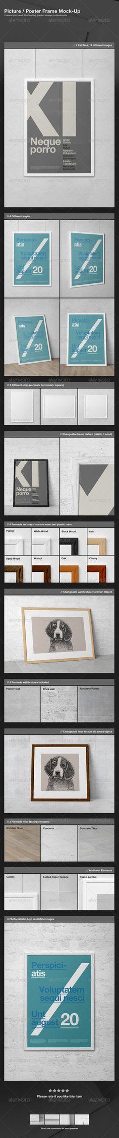 Picture / Poster Frame Mock-Up by GraphicAssets.deviantart.com on @DeviantArt