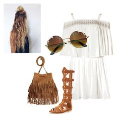 A fashion look from April 2016 featuring white color dress, suede leather shoes and h&m bags. Browse and shop related looks. Hippie Vibes, Kurt Geiger, Shoe Bag, My Style, Polyvore, Stuff To Buy, Shopping, Collection, Design