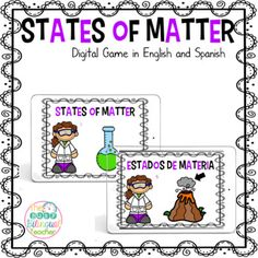 States of Matter Digital Game in English and Spanish