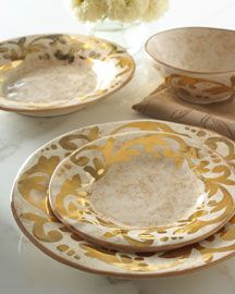 gold dishes