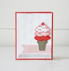 The Sprinkles of Life stamp set is perfect for creating those sweet cards! ~ Sarah Sagert