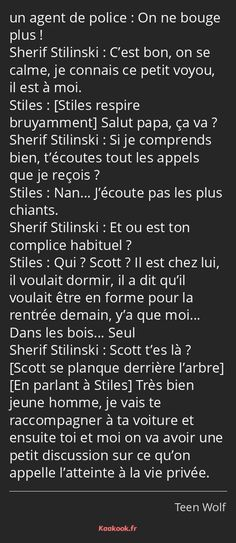 Citations Film, Teen Wolf Funny, Love You, My Love, Best Tv Shows, Nan, Sterek, Messages, Acting