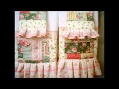 Shabby Chic Victorian Hand M Patch work Home decor Pillows Towels Bed cover Bath mat by Zsuzsanna - YouTube