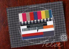 "Postkarte ""Sendepause"" von Telse Ahrweiler       Kunst + Design auf DaWanda.com"