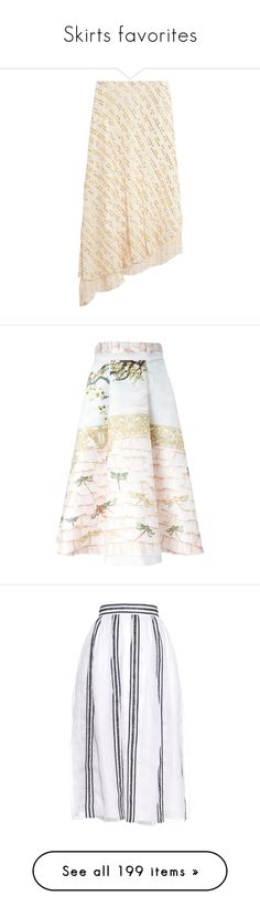 """""""Skirts favorites"""" by tamara-40 ❤ liked on Polyvore featuring skirts, white, white pleated skirt, calf length skirts, midi skirt, white skirt, tibi skirt, multicolour, print skirt and silk skirt"""