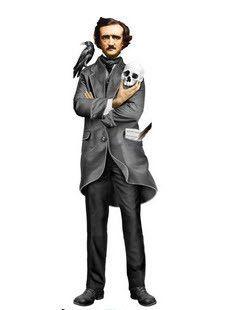 Edgar Allan Poe greeting card #araven #book-lover #Edgar-allan-poe