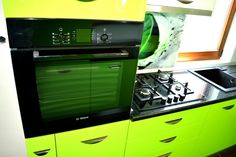 Wall Oven, Kitchen Appliances, Home, Green, Diy Kitchen Appliances, Home Appliances, Ad Home, Homes, Kitchen Gadgets