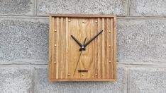 Wall Clock Wooden, Wood Clocks, Wood Design, Modern Design, Privacy Settings, Home Gifts, Industrial Design, House Warming, Unique