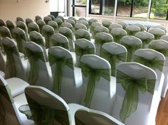 White and Green Venue dressing - By Vikki - At Sapphire Bespoke Events, 59 Poulton Road, Wallasey, Wirral