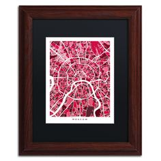 Moscow City Street Map IV by Michael Tompsett Framed Graphic Art