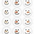 Country Snowman Face Template