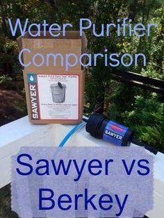 Water Purifier Comparison: The Sawyer Point ZeroTWO and The Berkeys | via www.TheSurvivalMom.com