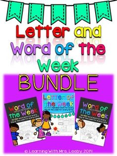 This mega bundle contains well over 1,000 pages of work for a week for every letter in the alphabet and every word in the Dolch Pre-Primer and Primer list.