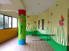 3d Wall Painting, Cartoon Painting, Wall Drawing, Texture Painting, School Wall Decoration, School Door Decorations, Wall Art Decor, School Painting, Classroom Walls