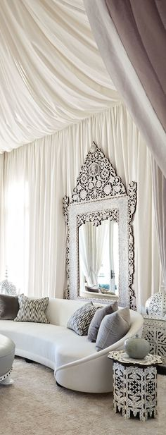 This mirror! I've seen beautiful mirrors, but this is truly a work of art