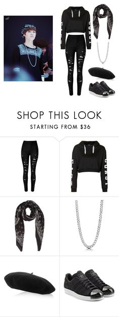 """""""Bts outfit 1"""" by mist-moo ❤ liked on Polyvore featuring Topshop, Yves Saint Laurent, BERRICLE, Gucci and adidas Originals"""