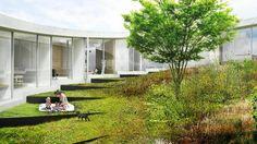 Patio. Villa Gug por BIG. Imagen © BIG-Bjarke Ingels Group. Señala encima de la imagen para verla más grande.