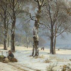 / / . Winter Landscape, Barend Cornelis Koekkoek, 1835-1838