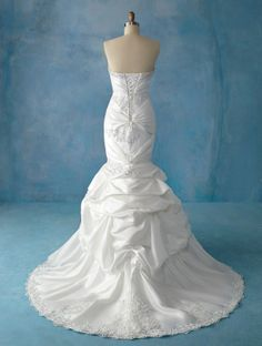 Alfred Angelo is spectacular at designing the backside as well as the front. This one is in the Disney fairy tale collection. WOW