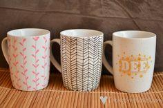 Loving...decorated mugs {DIY}