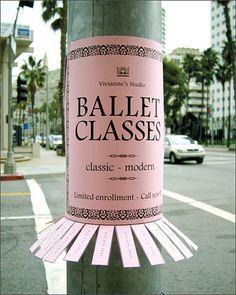 ballet classes :)