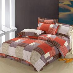 Personalized Buffalo Plaid Design Full, Queen Size Bedding Sets