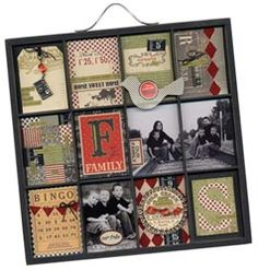 Love this idea.. like a scrapbook page for your wall!