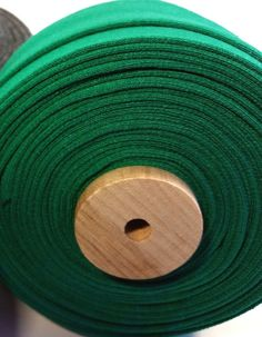 "1"" Organic Cotton Quilt/Blanket Binding - Green"