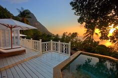 St. Lucia - Sugar Beach: A Secluded resort on a bay between two mountains= heaven!