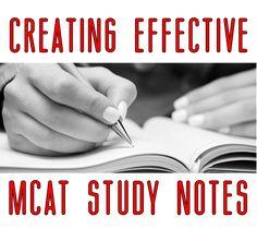 MCAT study notes tips by Gold Standard MCAT Prep