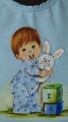 Resultado de imagem para pintura meninos em fraldinha
