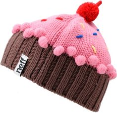 2860d7d7f75 The Neff Cupcake Beanie looks so tasty you could just about eat it! The Neff  Strawberry knit beanie features a custom cupcake design and colors