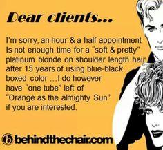 Hairstylist - platinum blonde