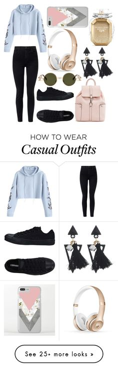 """Casual Look"" by mackenzieq on Polyvore featuring J Brand, Converse and Victoria's Secret"