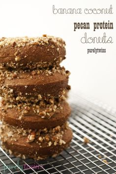 banana-coconut-pecan-protein-baked-donuts (sugar-free, gluten-free, dairy-free)