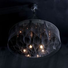 Design chandelier (steel, handmade) Mandala-1000 No.2 - Black Diamond by Adam Hoets willowlamp