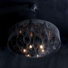 Design chandelier (steel, handmade) Mandala-1000 No.2 - Black Diamond by Adam Hoets willowlamp