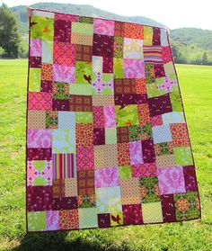 Raspberries and Limes quilt:great color combination