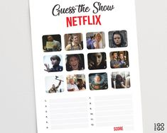 Guess The Netflix Show Game Netflix Games, Shows On Netflix, Family Quiz, Family Games, Childrens Wedding Games, Pub Quiz Questions, Harry Potter Games, American System, Family Get Together