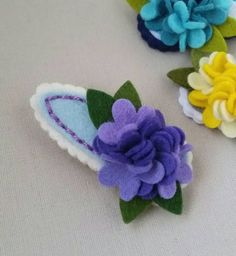 hydrangea-felt-flower-snap-hair-clip