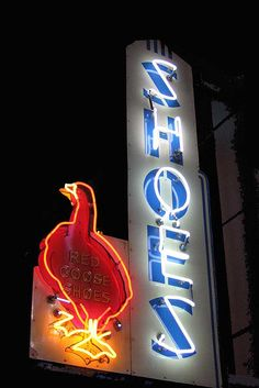 Red Goose Shoes Neon Sign Las Vegas by Neato Coolville, via Flickr