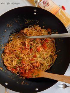 Japchae, Lasagna, Seafood, Spaghetti, Pasta, Ethnic Recipes, Lasagne, Sea Food, Noodles