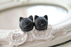 Black Kitty cats 11mm 7/16 plugs gauges stretched by DinaFragola