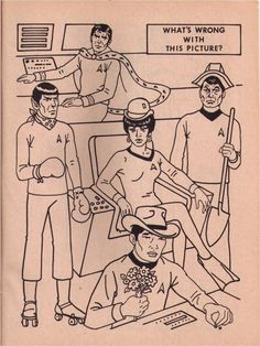 Star Trek colouring book, what's wrong with this picture, early 1970s