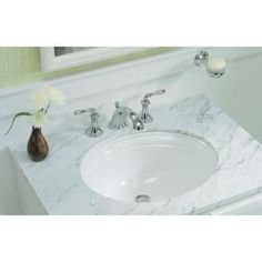 kohler undermount bath sinks kohler devonshire undermount bathroom sink in white k2336 - Kohler Devonshire